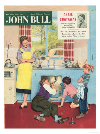30517276~John-Bull-Plumbers-Plumbing-DIY-Mending-Kitchens-Sinks-Magazine-UK-1950-Posters