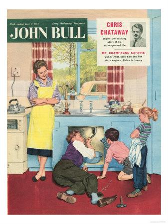 30517276~John-Bull-Plumbers-Plumbing-DIY-Mending-Kitchens-Sinks-Magazine-UK-1950-Posters