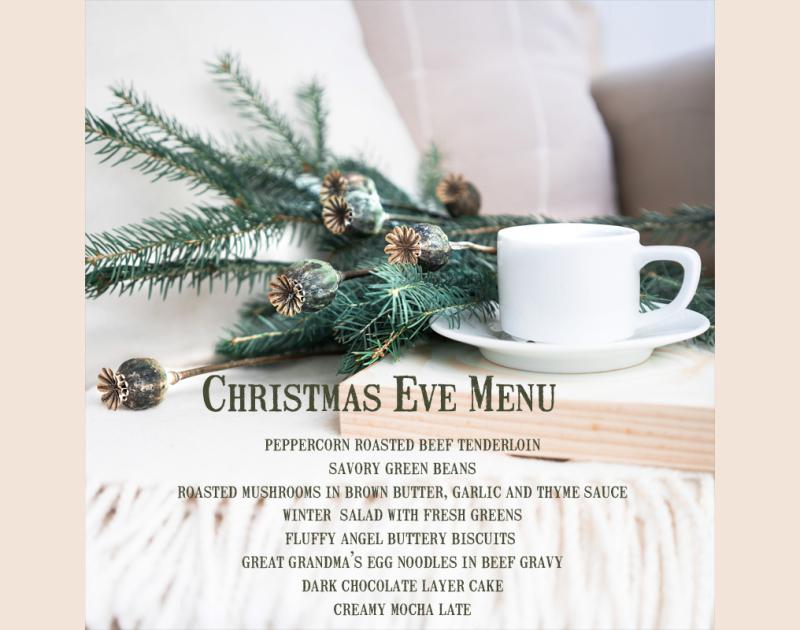 Christmaseve2018menu